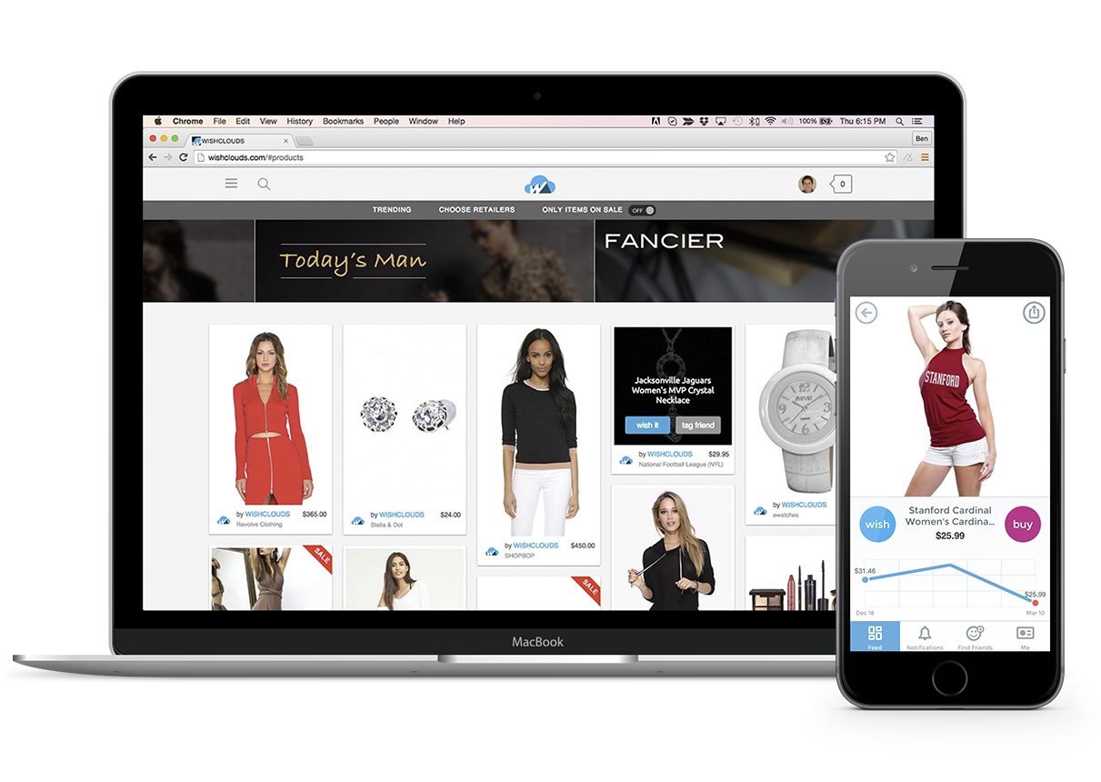 social ecommerce web and mobile development wishclouds