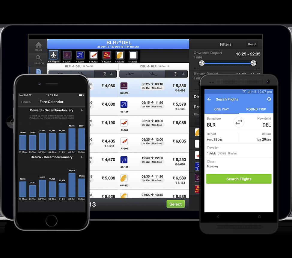 Yatra responsive app
