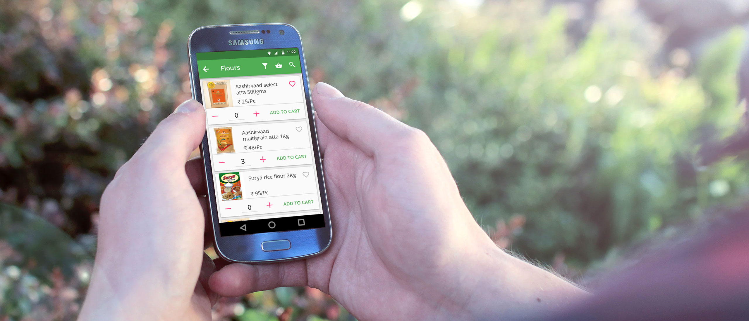 Weekly Groceries Mobile App