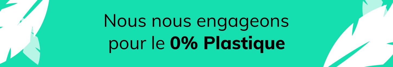 Bouteilles d'Eauteur s'engage pour le 0% Plastique en décorant exclusivement des produits en verre, recyclable à l'infini.