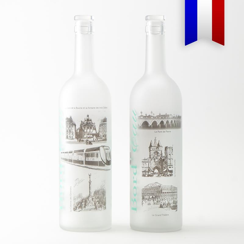 La bouteille d'eau personnalisée en l'honneur de la ville de Bordeaux, fabriquée dans notre atelier bordelais. Ça c'est local!