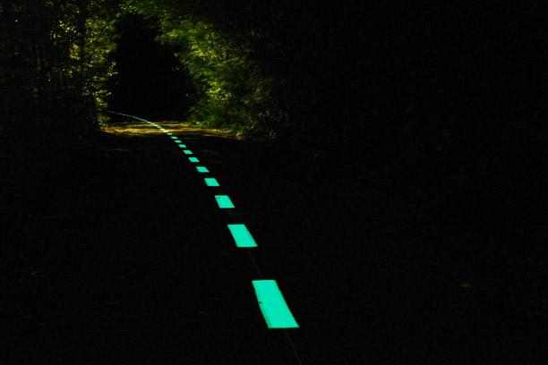 Piste cyclable lumineuse LuminoKromNamur Belgique – OliKrom©