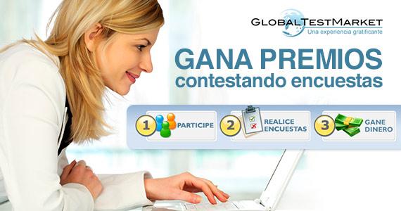 Gana dinero llenando encuestas con Global Test Market