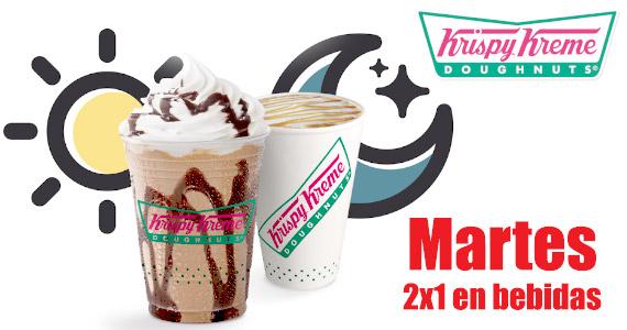 Martes 2×1 en bebidas en Krispy Kreme