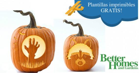 Plantillas gratuitas de calabazas para Halloween