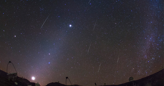 La útima gran lluvia de estrellas y Luna llena del año