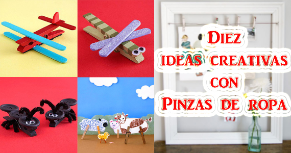 Ideas creativas para decorar usando pinzas de madera