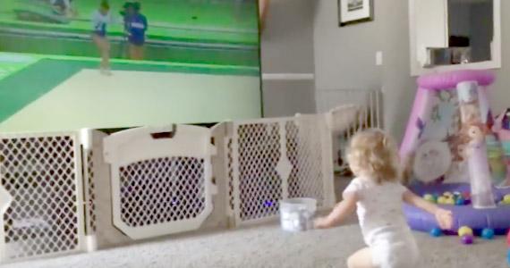 Esta bebé se entrena duramente para las Olimpiadas
