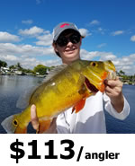 Ft Lauderdale Peacock Bass Fishing Charters