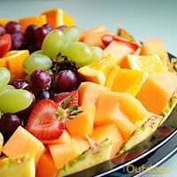 Chilled Fresh Fruit Platter for Fishing Catering Cocoa Beach Florida