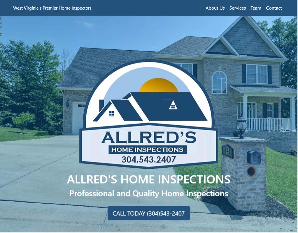 Allred's Home Inspections Website