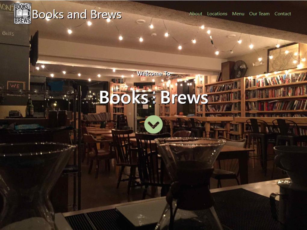 Books and Brews Website