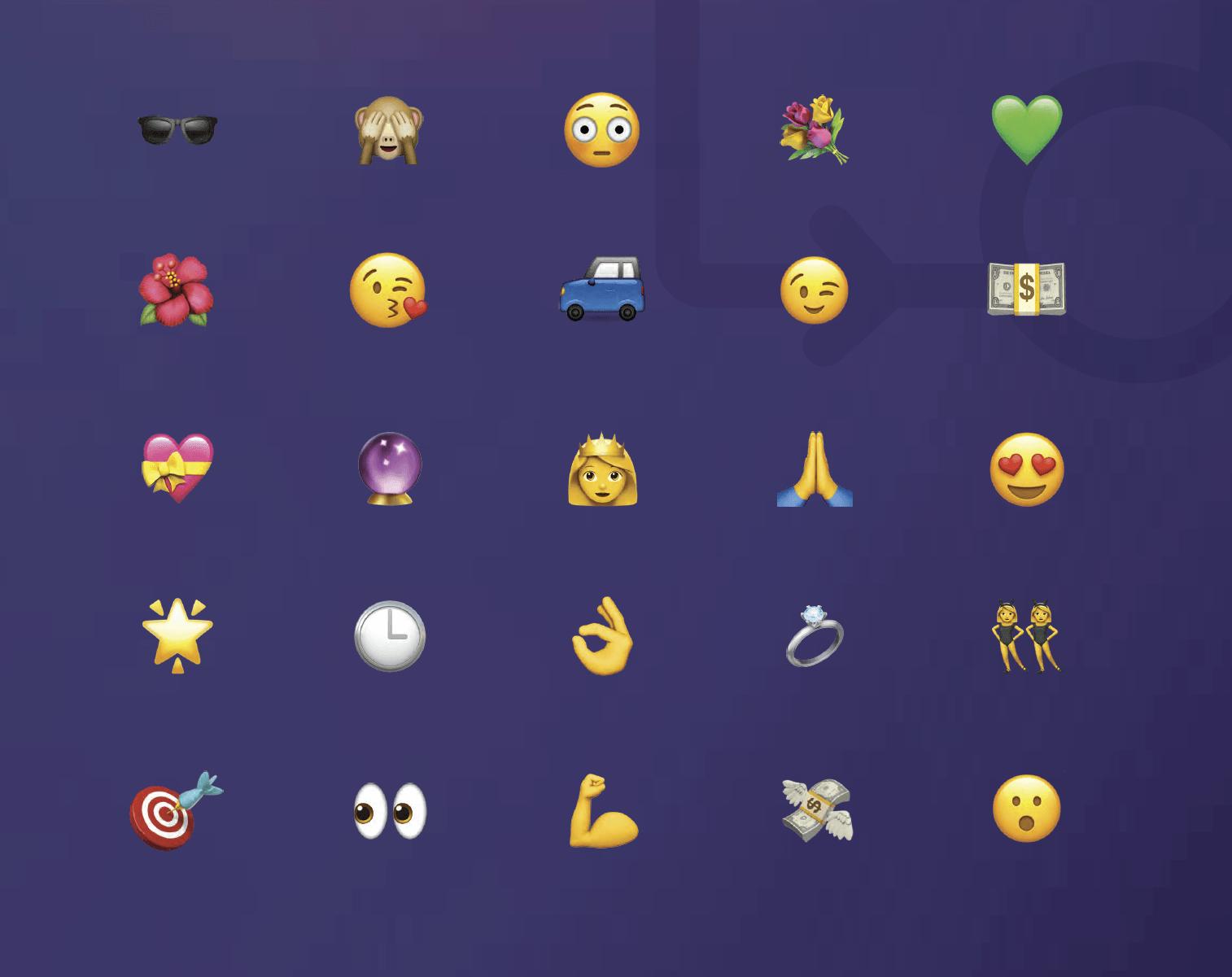 mobile marketing emoji
