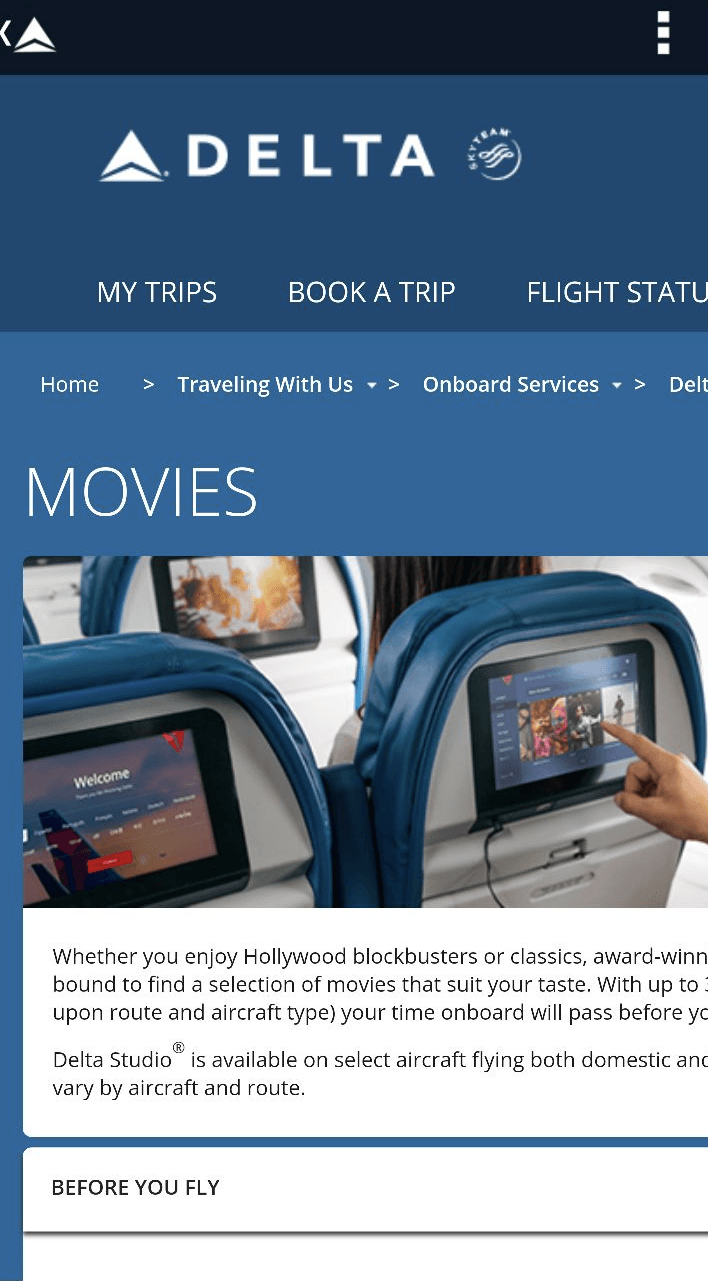 delta airlines ux