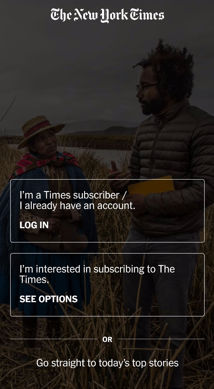 app engagement new york times subscription