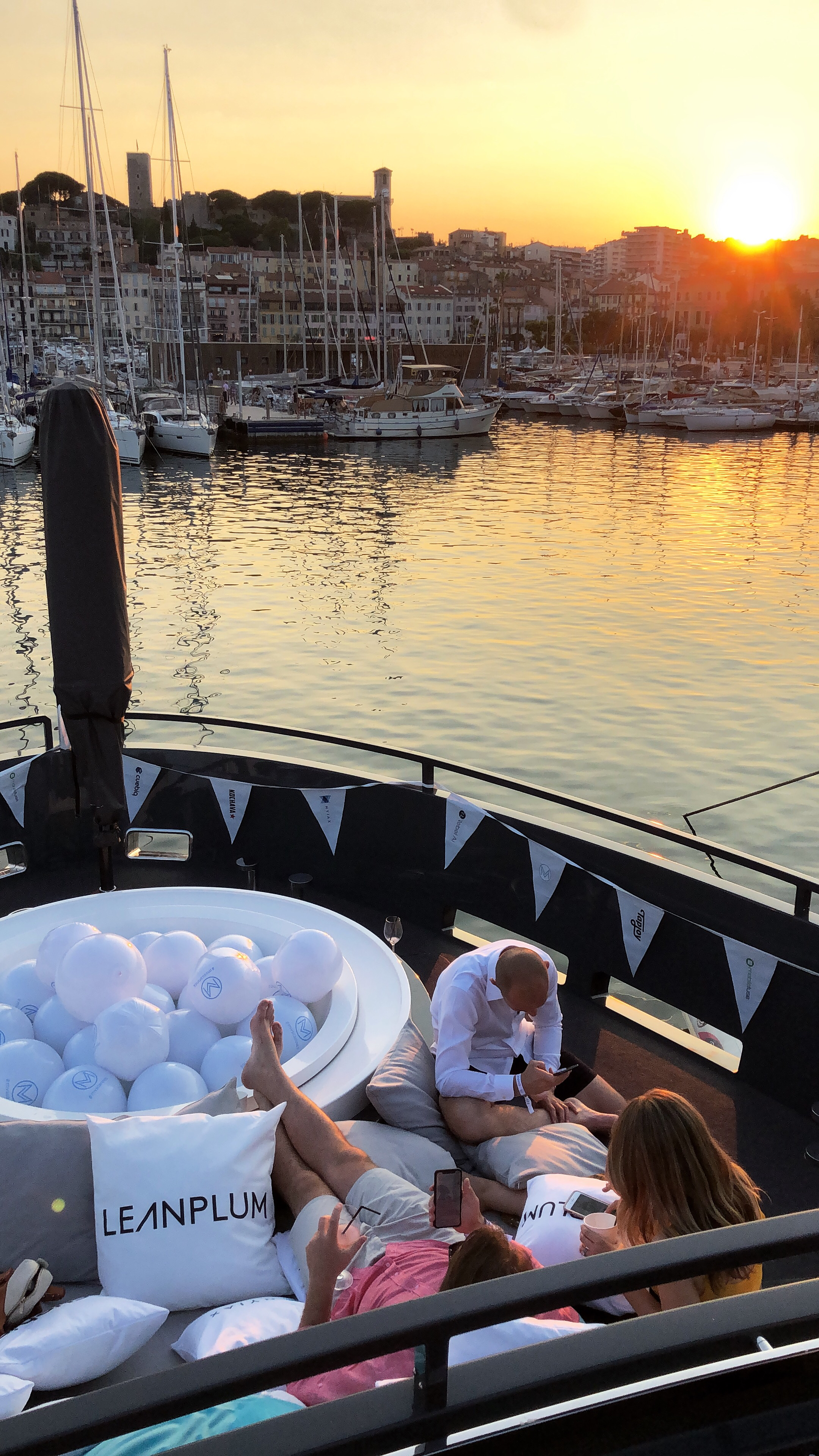 Cannes Lion Yacht Sunset Sign Off Leanplum