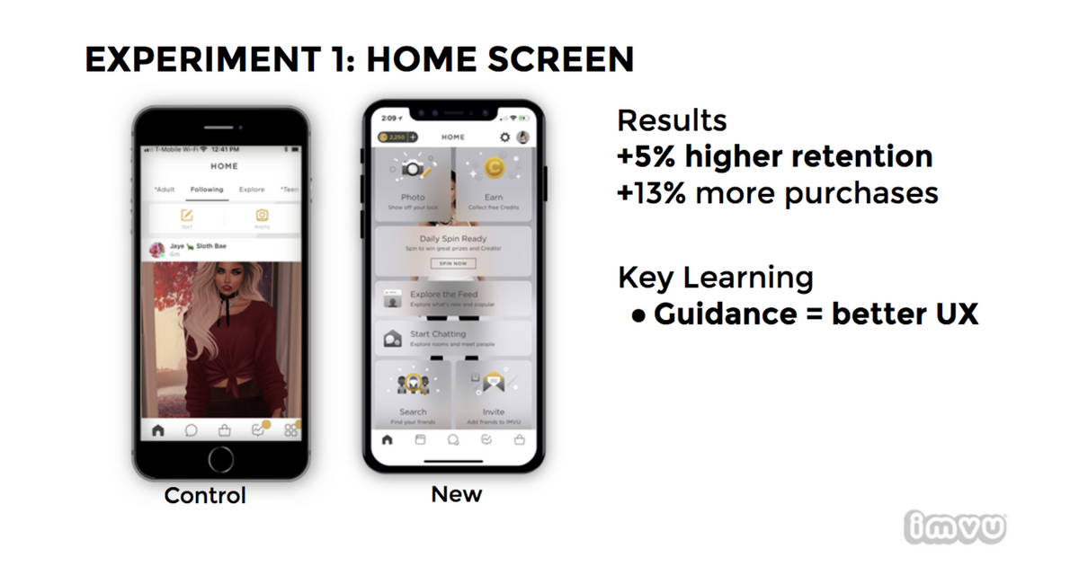 mobile engagement experiment