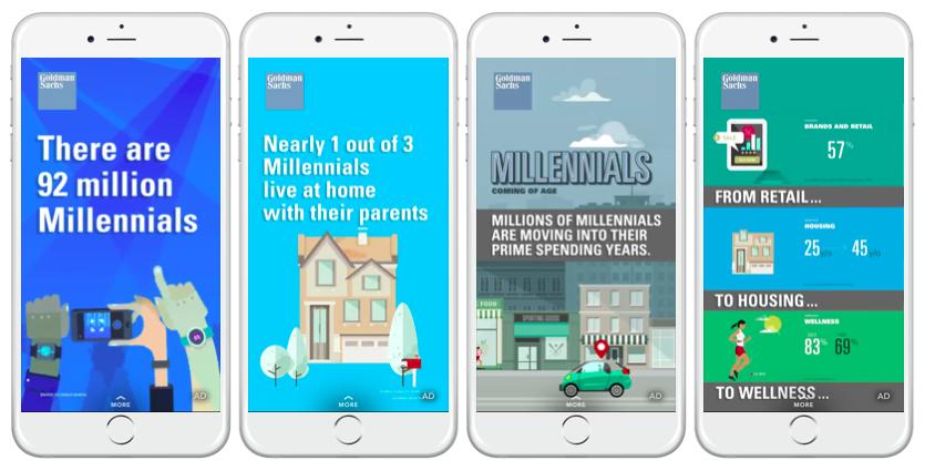 Goldman Sachs The Economist Millennials mobile ads
