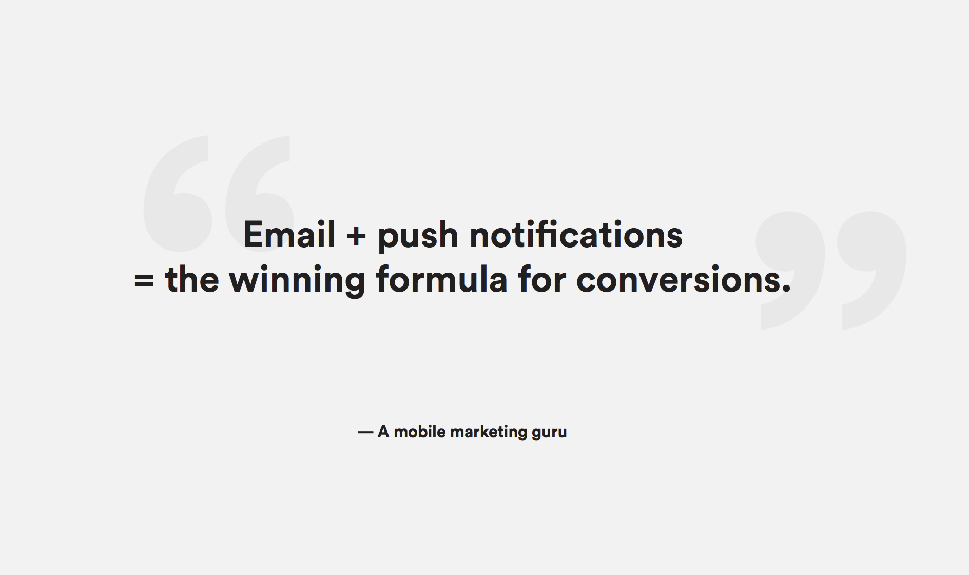 email push notification strategy