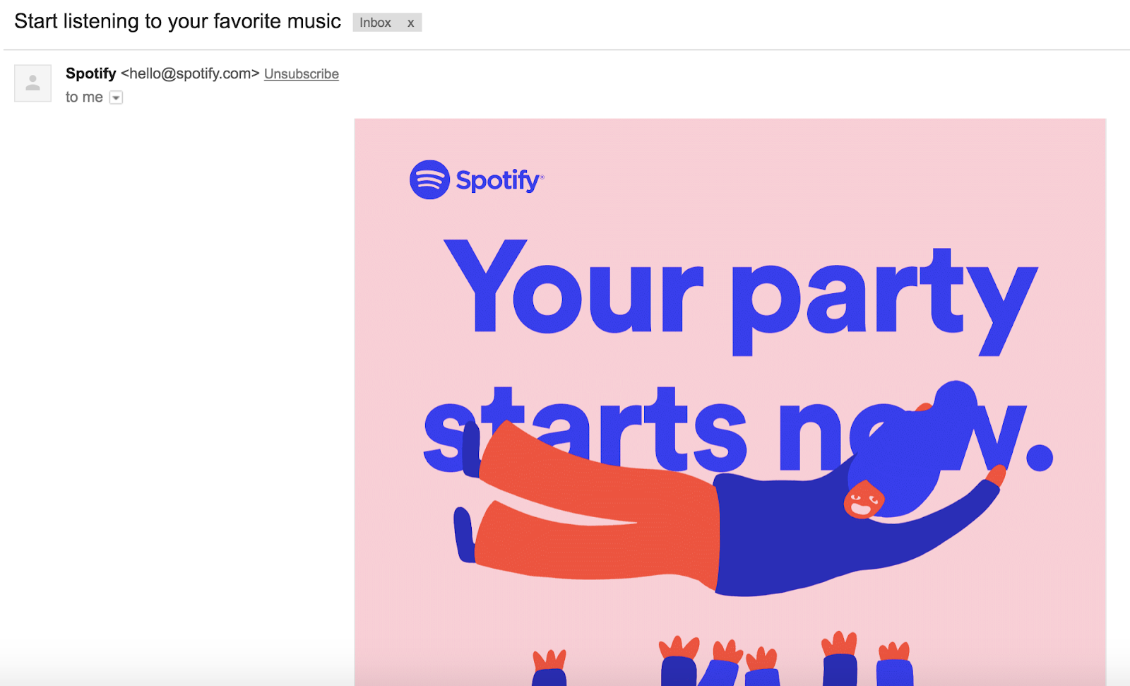 Spotify App Engagement Email