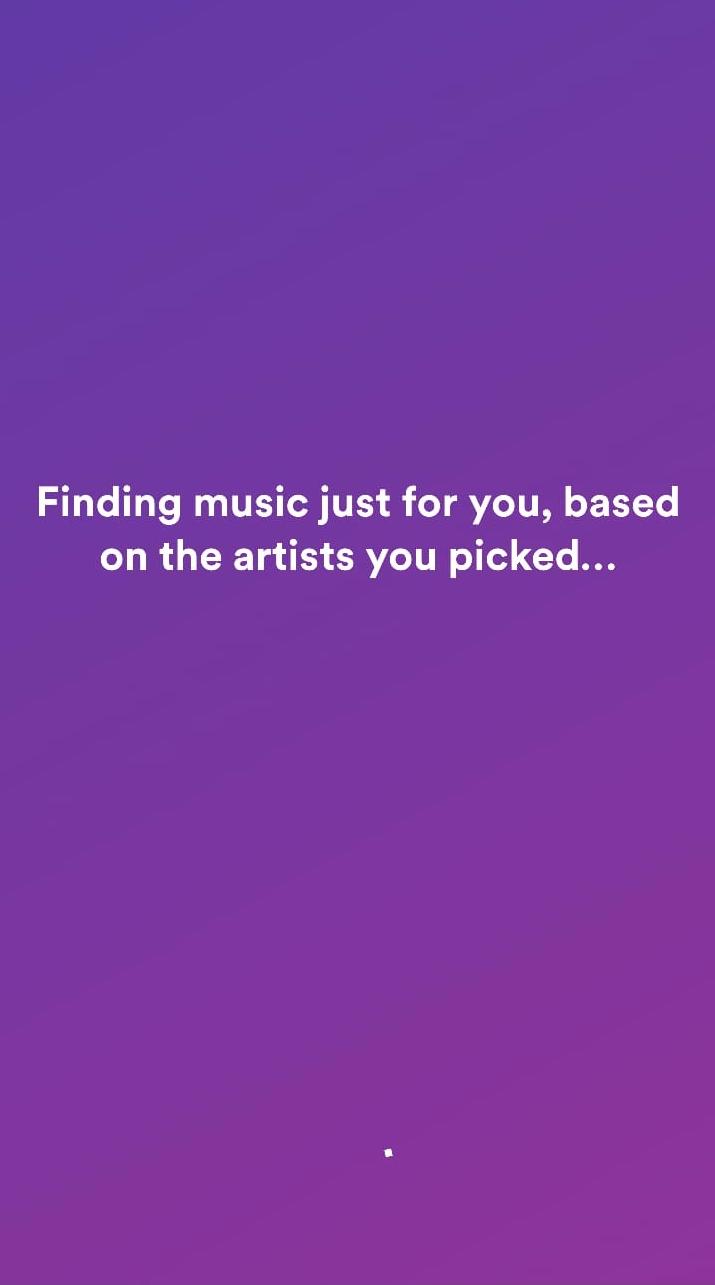 Spotify App UX Taste Onboarding