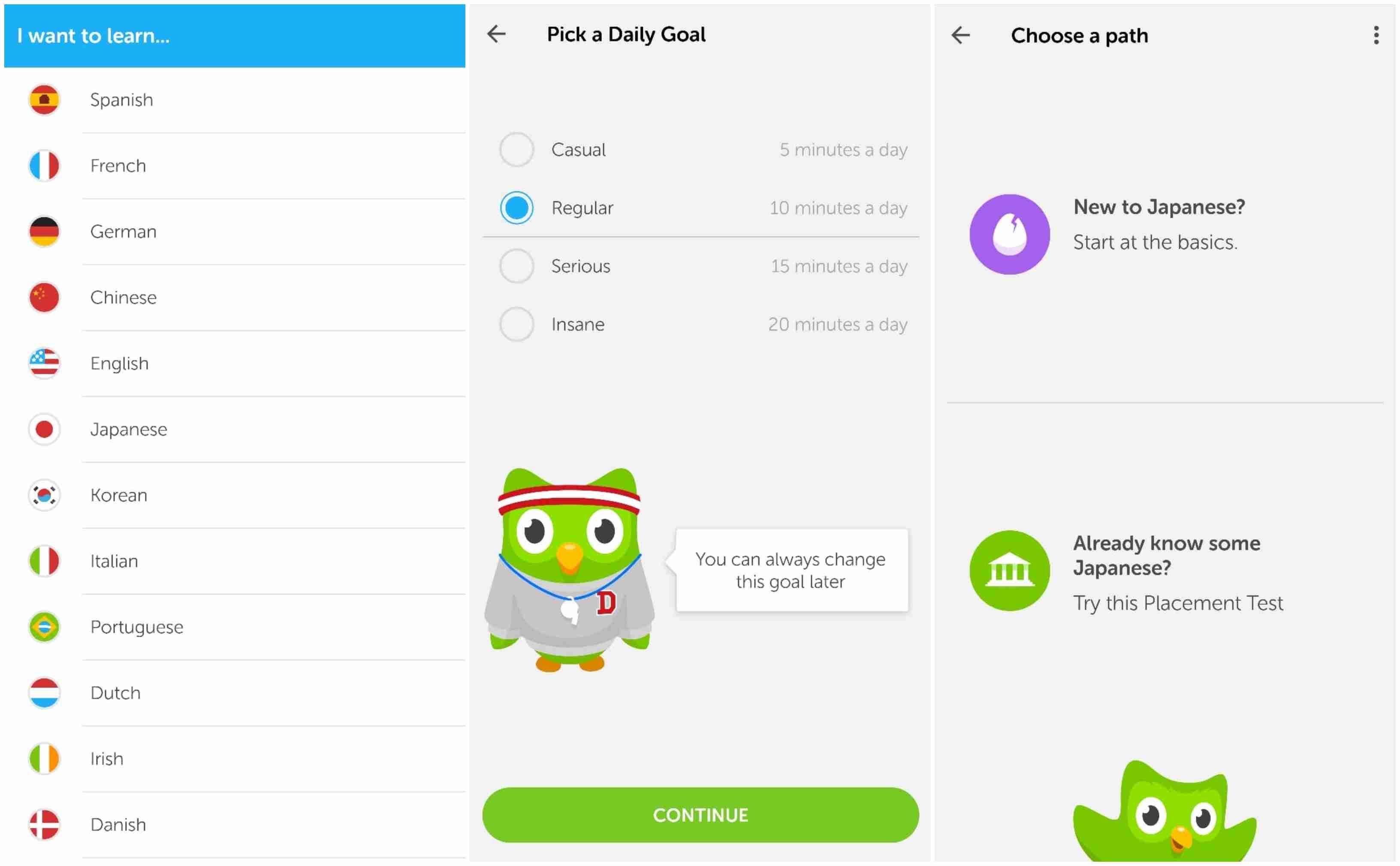 onboarding flow duolingo app