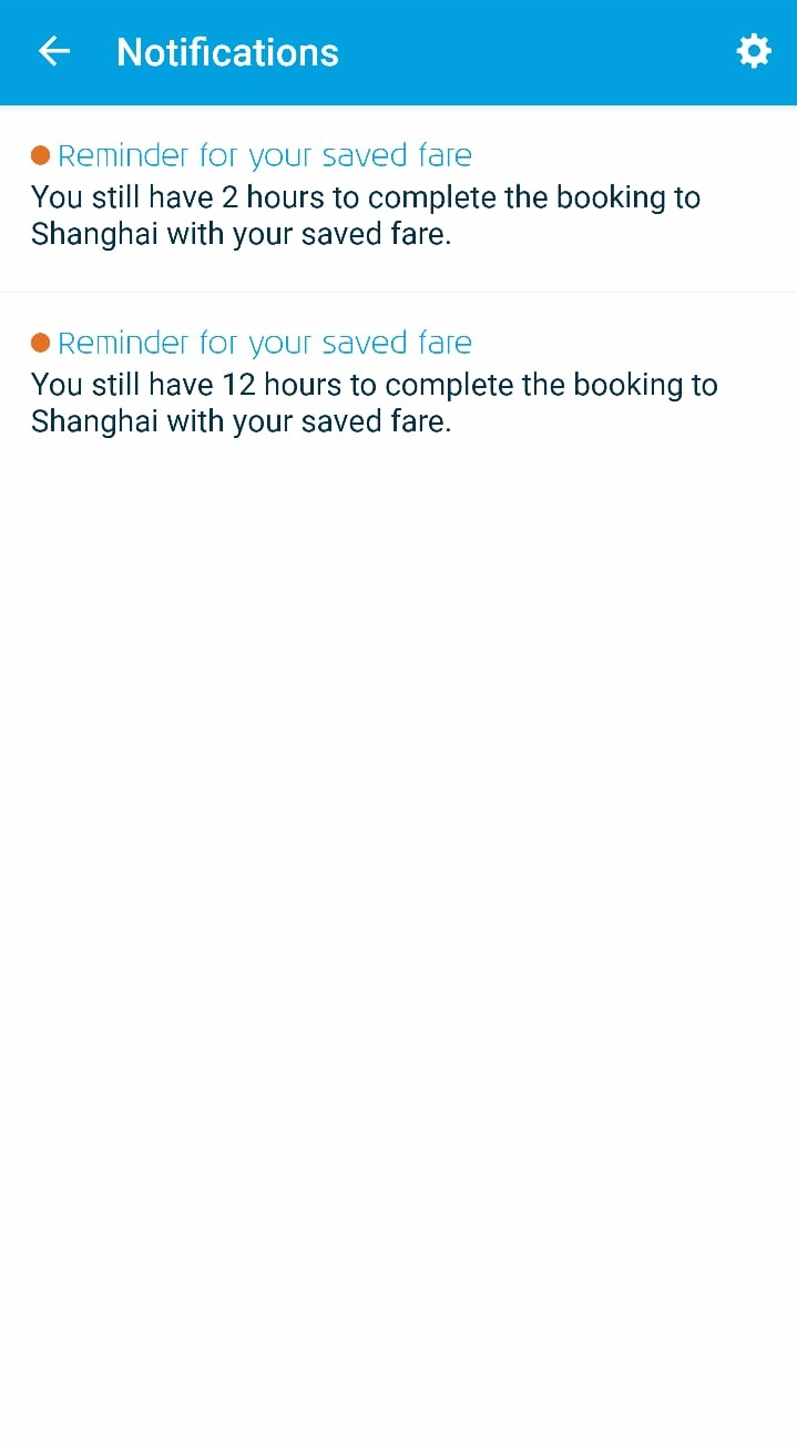 KLM App UX Notifications