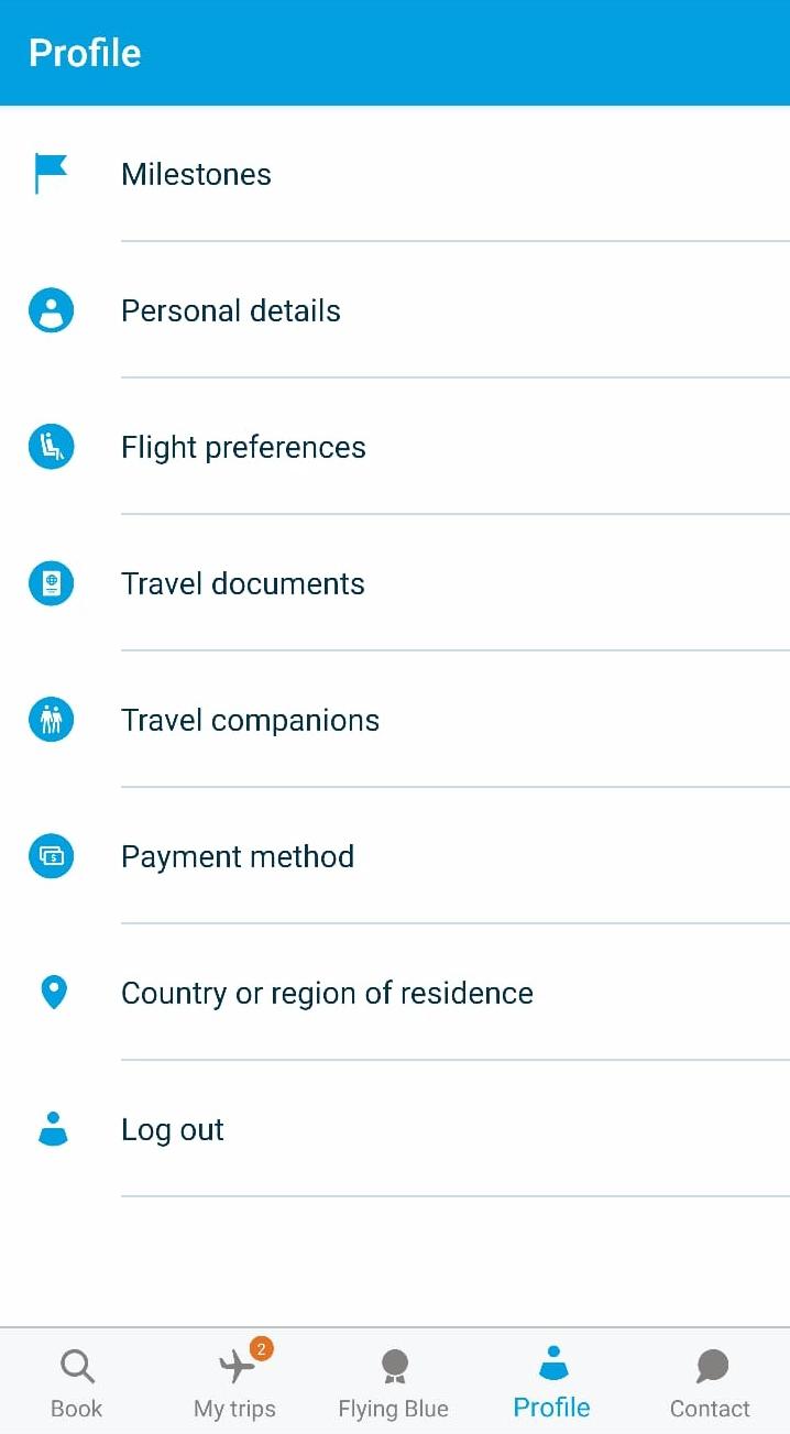 app engagement klm user profile