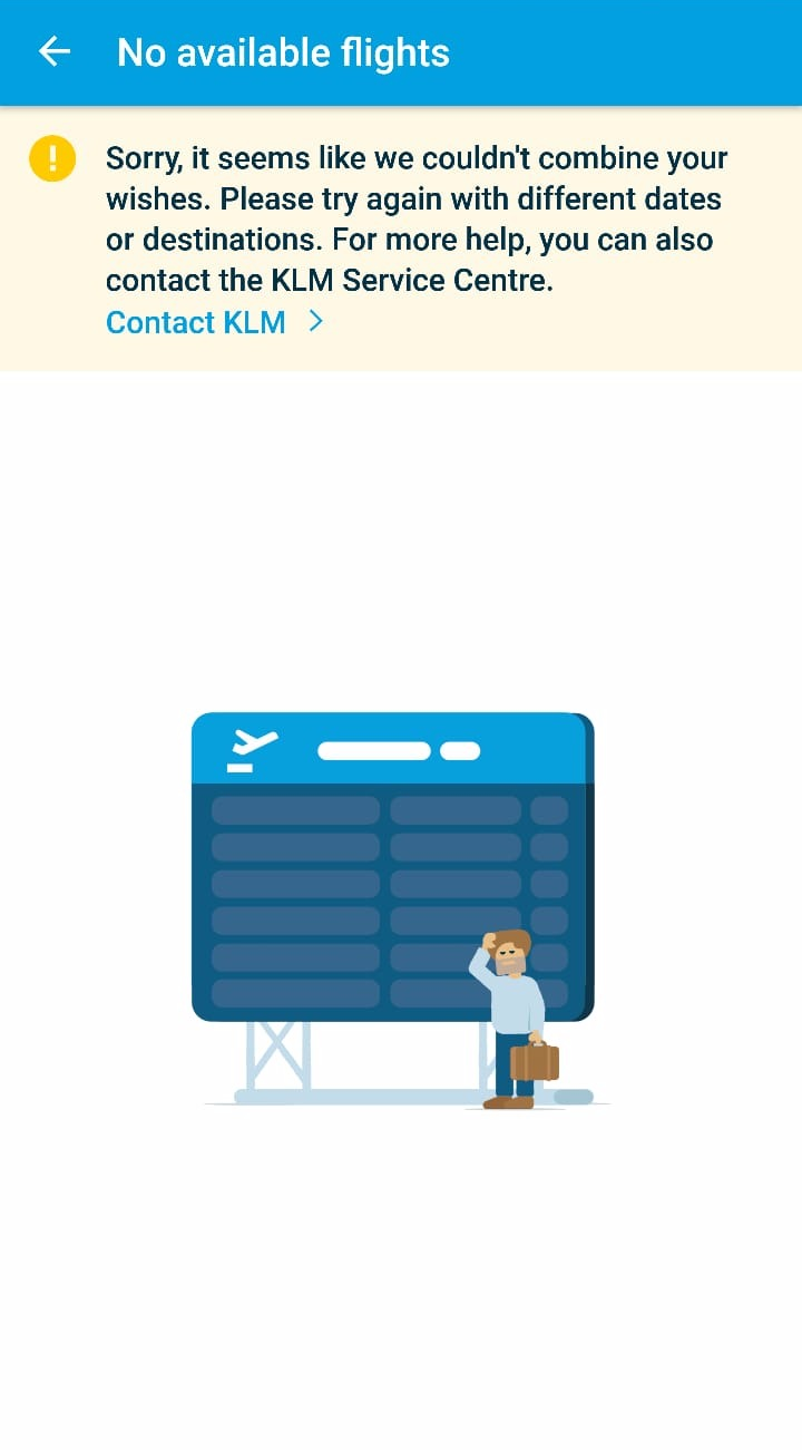 KLM App UX Flights