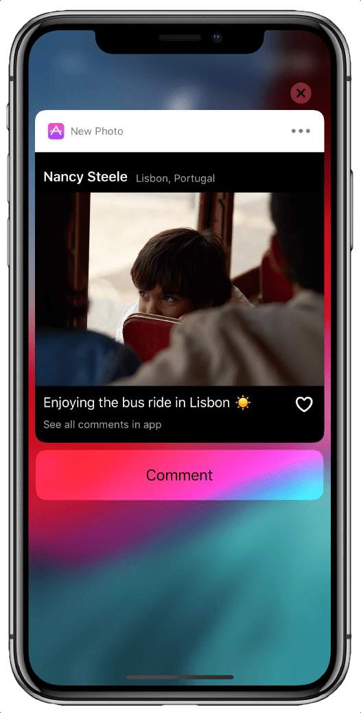iOS 12 Features Rich Notifications