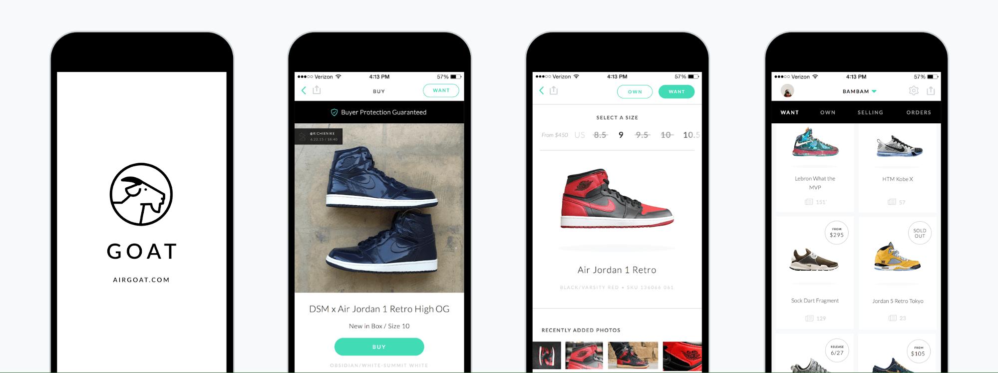 user funnel sneaker app