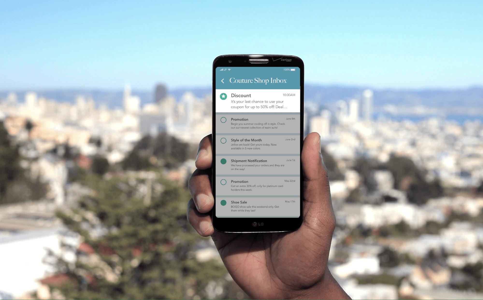 retail app messaging app inbox