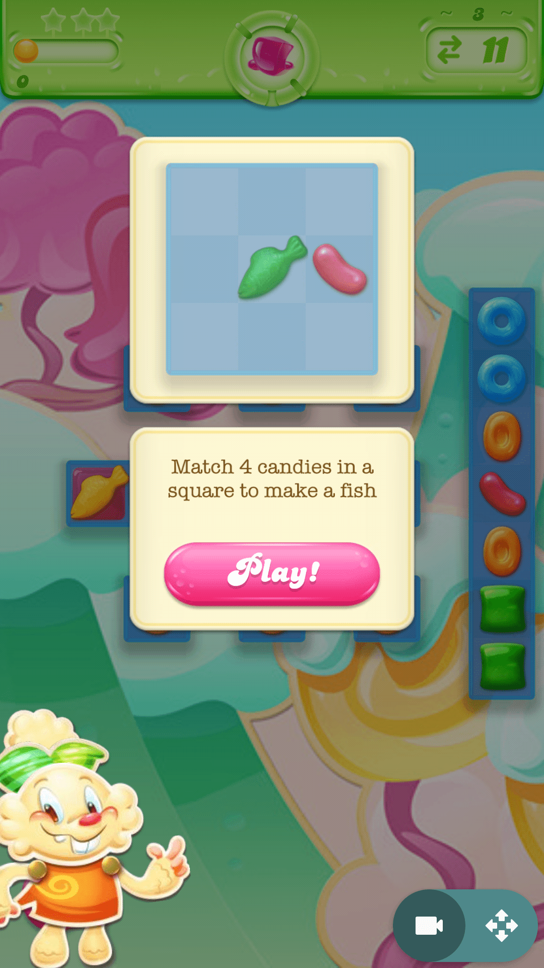 app onboarding candy crush