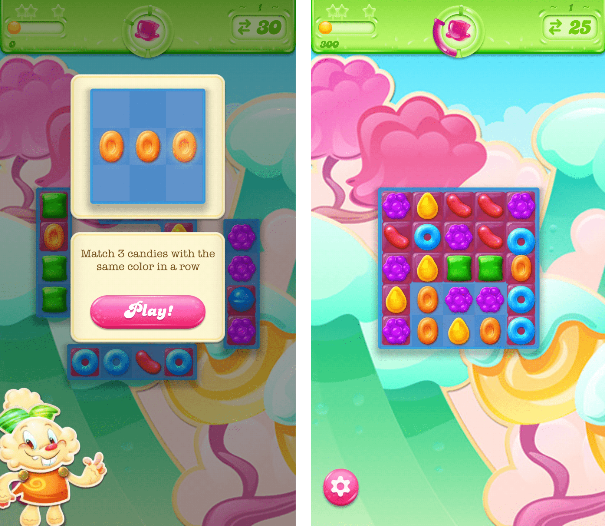 user onboarding gaming candy crush