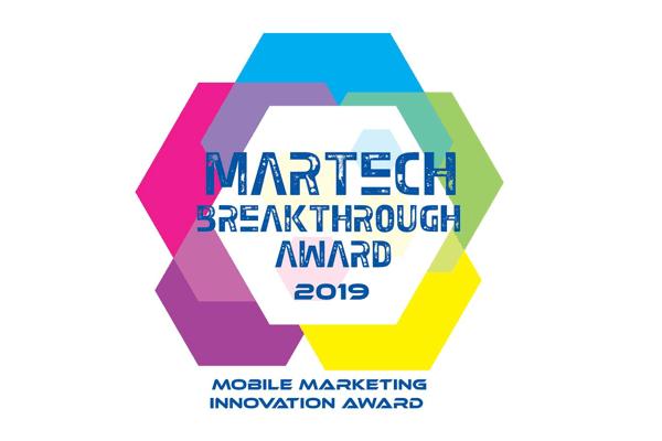 Recognized as an innovator in MarTech Breakthrough Awards 2019