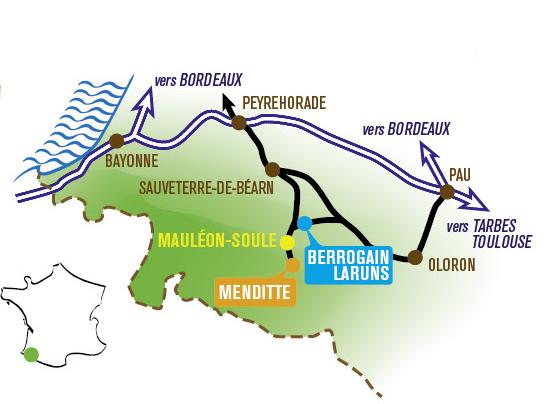 Lycée LARPS Mauléon-Soule - Carte