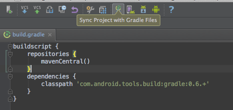 Sync Android With Gradle