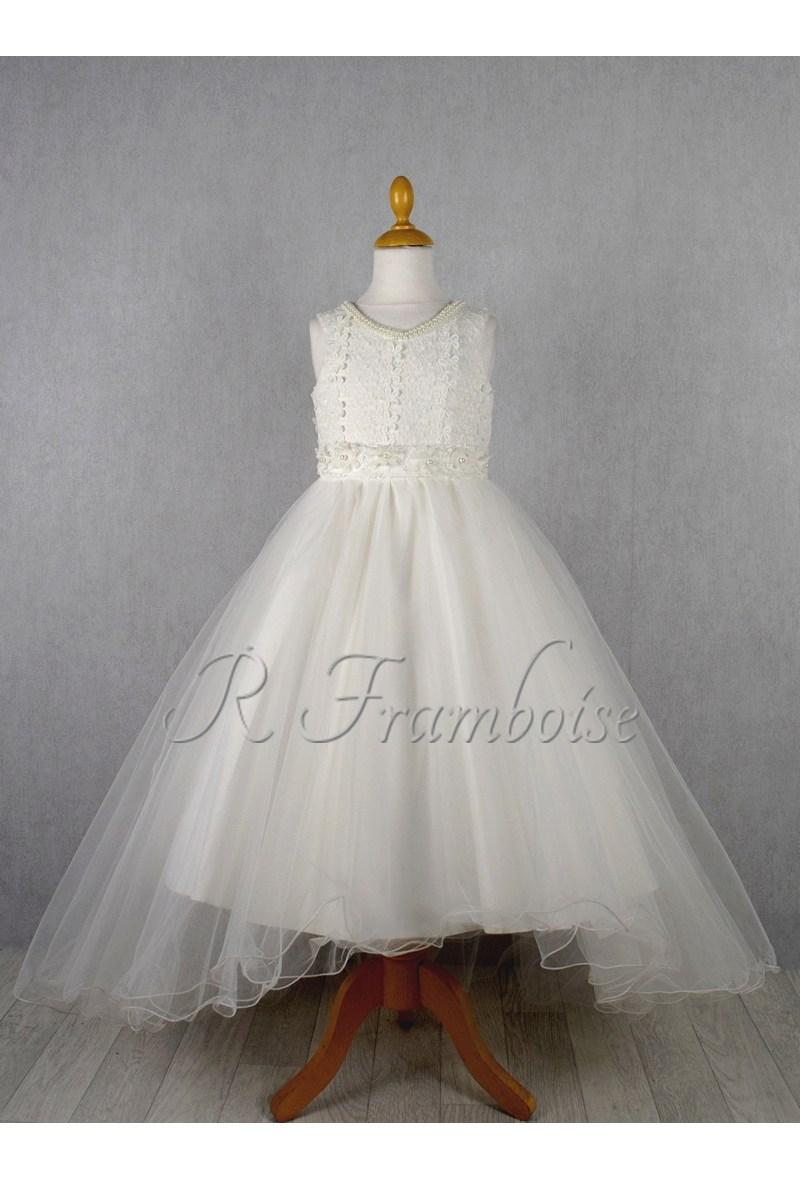 af21220cab5d3 Robe cérémonie fille avec traine R Framboise