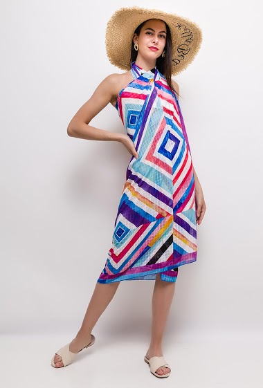 The model measures 175cm, one size corresponds to 10/12(UK) 38/40(FR). Length:124cm