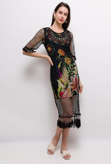 The model measures 175cm and wears S/M. Length:110cm