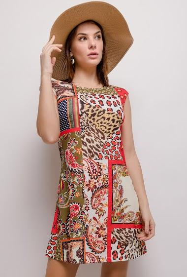 101 IDÉES vestido estampado CIFA FASHION