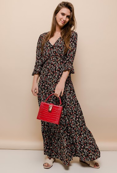 101 IDÉES vestido longo estampado CIFA FASHION
