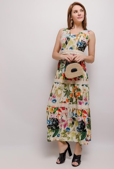 101 IDÉES vestido largo estampado CIFA FASHION