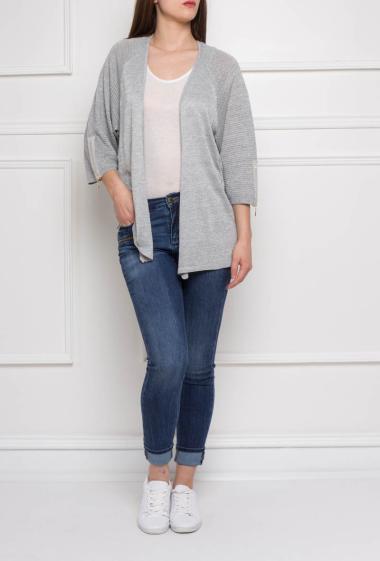 Sparkle jacket, three-quarter sleeves with zip