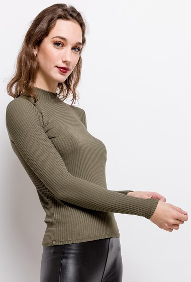 ADILYNN ribbed sweater FASHION CENTER