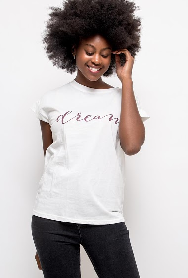 ADILYNN camiseta dream FASHION CENTER