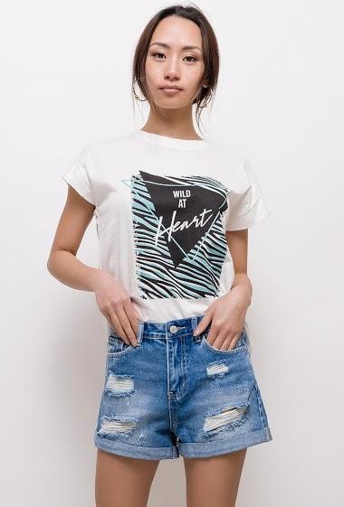 ADILYNN t-shirt wild sind herz FASHION CENTER