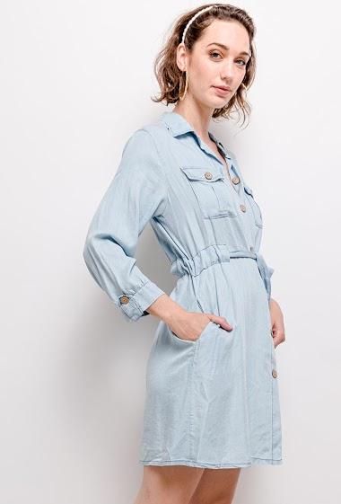 Robe chemise en lyocell