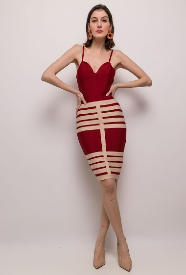 ALINA to-tone bodycon kjole CIFA FASHION