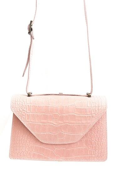Petit sac cuir imprimé croco avec chaine en bronze 23cm*15cm*6cm